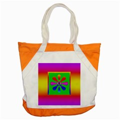 Flower Mosaic Accent Tote Bag