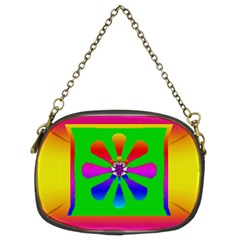 Flower Mosaic Chain Purses (Two Sides)