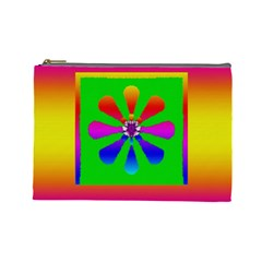 Flower Mosaic Cosmetic Bag (Large)