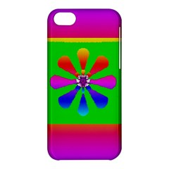 Flower Mosaic Apple Iphone 5c Hardshell Case