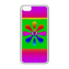 Flower Mosaic Apple Iphone 5c Seamless Case (white)