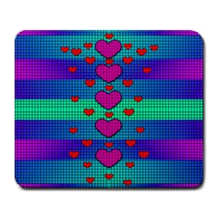 Hearts Weave Large Mousepads