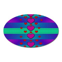 Hearts Weave Oval Magnet