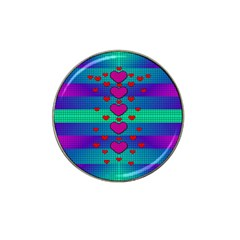 Hearts Weave Hat Clip Ball Marker