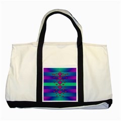 Hearts Weave Two Tone Tote Bag
