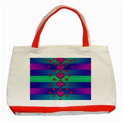 Hearts Weave Classic Tote Bag (Red)