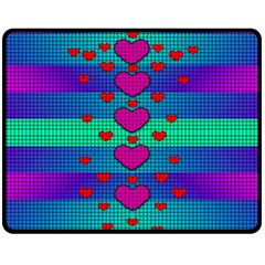 Hearts Weave Fleece Blanket (medium)