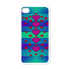 Hearts Weave Apple iPhone 4 Case (White)