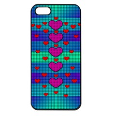 Hearts Weave Apple iPhone 5 Seamless Case (Black)