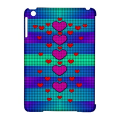 Hearts Weave Apple iPad Mini Hardshell Case (Compatible with Smart Cover)