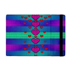 Hearts Weave iPad Mini 2 Flip Cases