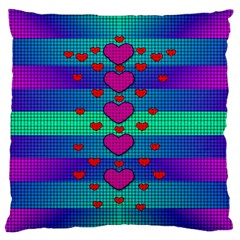 Hearts Weave Standard Flano Cushion Case (two Sides)