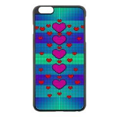Hearts Weave Apple iPhone 6 Plus/6S Plus Black Enamel Case