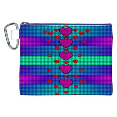 Hearts Weave Canvas Cosmetic Bag (XXL)