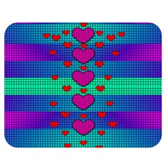 Hearts Weave Double Sided Flano Blanket (Medium)
