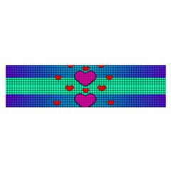 Hearts Weave Satin Scarf (Oblong)