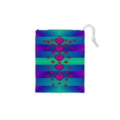 Hearts Weave Drawstring Pouches (XS)