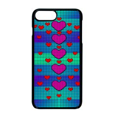 Hearts Weave Apple iPhone 7 Plus Seamless Case (Black)