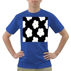 April Fun Pop Floral Flower Black White Yellow Rose Dark T-Shirt
