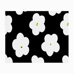 April Fun Pop Floral Flower Black White Yellow Rose Small Glasses Cloth