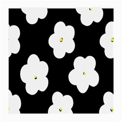 April Fun Pop Floral Flower Black White Yellow Rose Medium Glasses Cloth (2-Side)