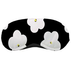 April Fun Pop Floral Flower Black White Yellow Rose Sleeping Masks