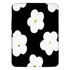 April Fun Pop Floral Flower Black White Yellow Rose Samsung Galaxy Tab 3 (10.1 ) P5200 Hardshell Case