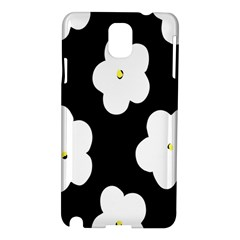 April Fun Pop Floral Flower Black White Yellow Rose Samsung Galaxy Note 3 N9005 Hardshell Case