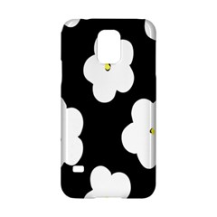 April Fun Pop Floral Flower Black White Yellow Rose Samsung Galaxy S5 Hardshell Case