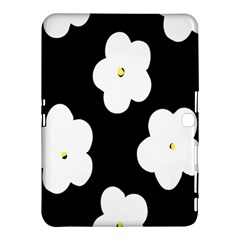 April Fun Pop Floral Flower Black White Yellow Rose Samsung Galaxy Tab 4 (10.1 ) Hardshell Case