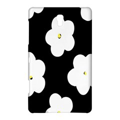 April Fun Pop Floral Flower Black White Yellow Rose Samsung Galaxy Tab S (8.4 ) Hardshell Case