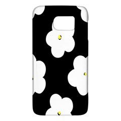 April Fun Pop Floral Flower Black White Yellow Rose Galaxy S6