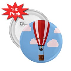 Air Ballon Blue Sky Cloud 2.25  Buttons (100 pack)