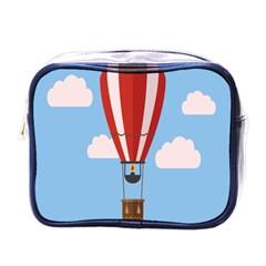 Air Ballon Blue Sky Cloud Mini Toiletries Bags