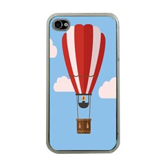 Air Ballon Blue Sky Cloud Apple iPhone 4 Case (Clear)