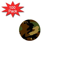 Army Camouflage 1  Mini Buttons (100 pack)