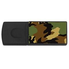 Army Camouflage USB Flash Drive Rectangular (2 GB)