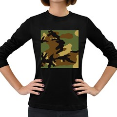 Army Camouflage Women s Long Sleeve Dark T-Shirts