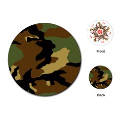 Army Camouflage Playing Cards (Round)