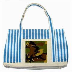 Army Camouflage Striped Blue Tote Bag