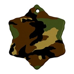 Army Camouflage Ornament (Snowflake)
