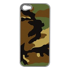 Army Camouflage Apple iPhone 5 Case (Silver)