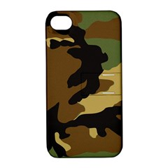 Army Camouflage Apple iPhone 4/4S Hardshell Case with Stand