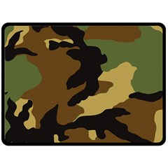 Army Camouflage Double Sided Fleece Blanket (Large)