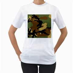 Army Camouflage Women s T-Shirt (White)