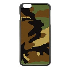 Army Camouflage Apple iPhone 6 Plus/6S Plus Black Enamel Case