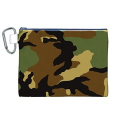 Army Camouflage Canvas Cosmetic Bag (XL)