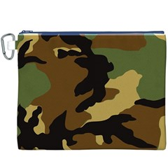 Army Camouflage Canvas Cosmetic Bag (XXXL)