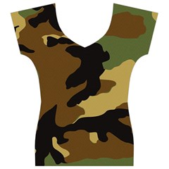Army Camouflage Women s V-Neck Cap Sleeve Top