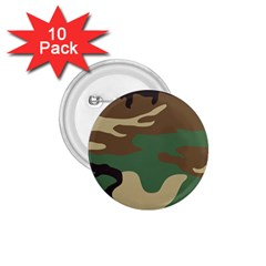 Army Shirt Green Brown Grey Black 1.75  Buttons (10 pack)